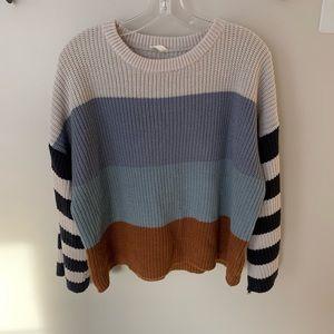 Vici blue striped sweater